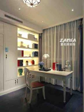 宜家 地中海 舒适 简约 书房图片来自紫名居装饰在旭日爱上城90平的分享