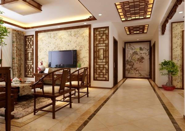 本案例采用的是新中式风格,此风格舍弃浮华,强调造型简单,装饰 有度。设计师在整体家居设计中,又融入了现代生活符号,合理的搭配及完美的布局, 让传统与时尚并存。