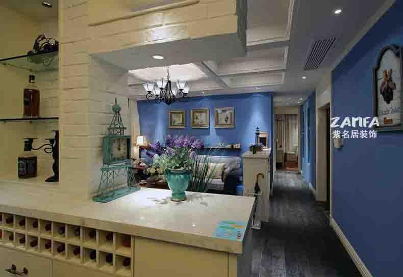 宜家 地中海 舒适 简约 客厅图片来自紫名居装饰在旭日爱上城90平的分享