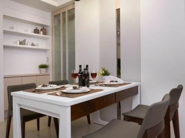 70平现代混搭清新小居室