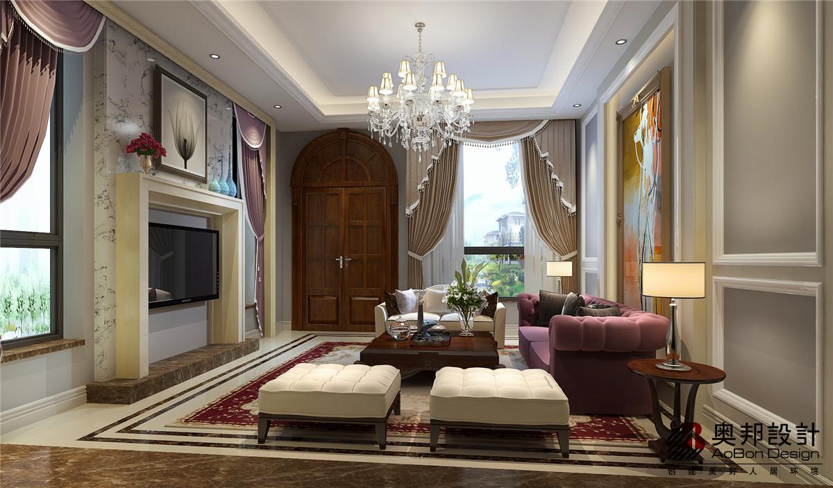 别墅 别墅装修 别墅设计 美式风格 奥邦装饰 客厅图片来自上海奥邦装饰在恒大海上威尼斯别墅设计案例的分享