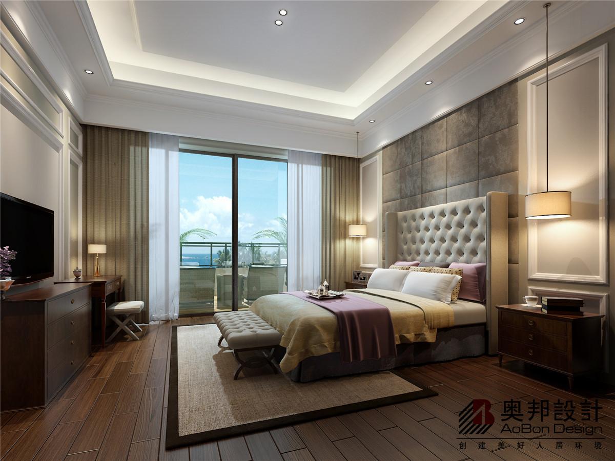 别墅 别墅装修 别墅设计 美式风格 奥邦装饰 卧室图片来自上海奥邦装饰在恒大海上威尼斯别墅设计案例的分享