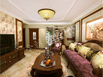 现代城-美式风格-二居室