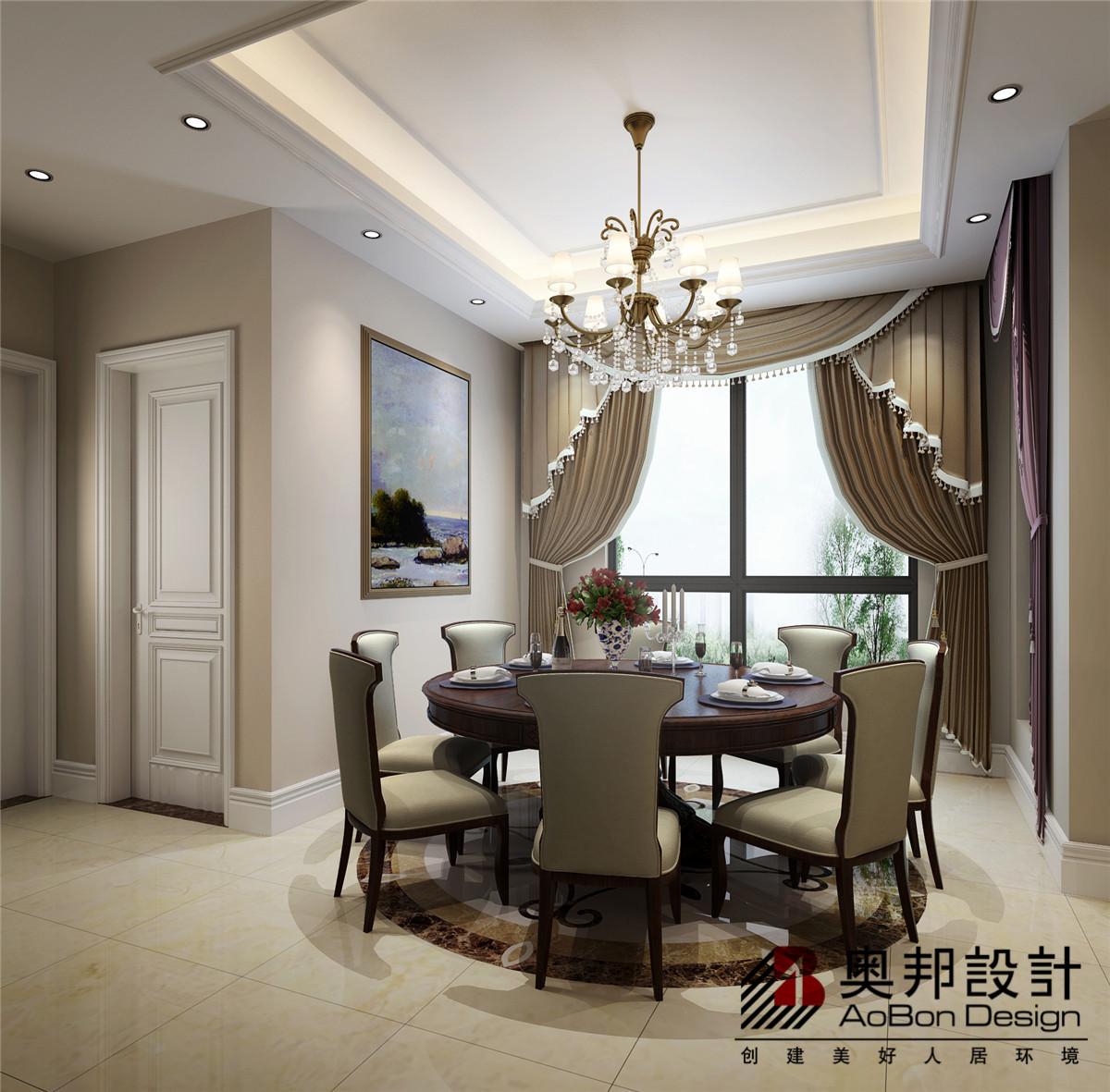 别墅 别墅装修 别墅设计 美式风格 奥邦装饰 餐厅图片来自上海奥邦装饰在恒大海上威尼斯别墅设计案例的分享