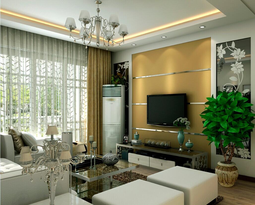 客厅图片来自大业美家装饰在保利百合三居室109平简约风格的分享