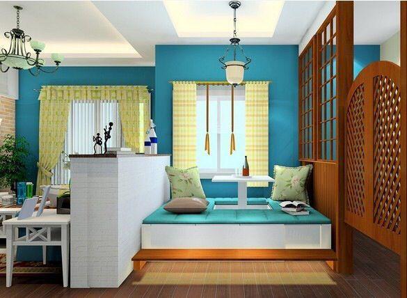 客厅里做一个小小的榻榻米休闲区,相聚时候可以更放松地玩游戏。