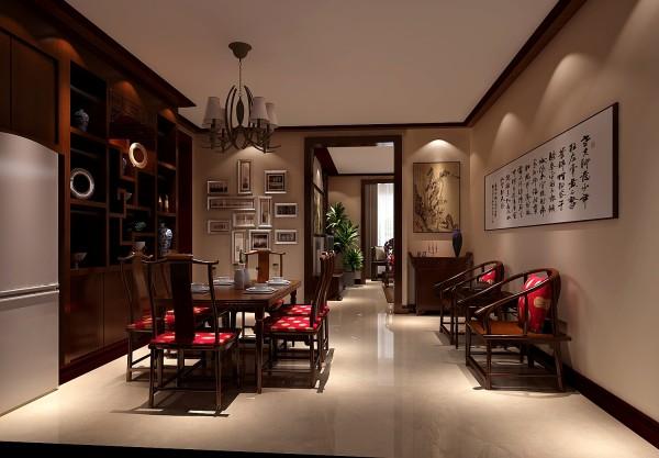 厅里摆一套明清式的红木家具,墙上挂一幅中国山水画等,传统的书房里自然少不了书柜、书案以及文房四宝。