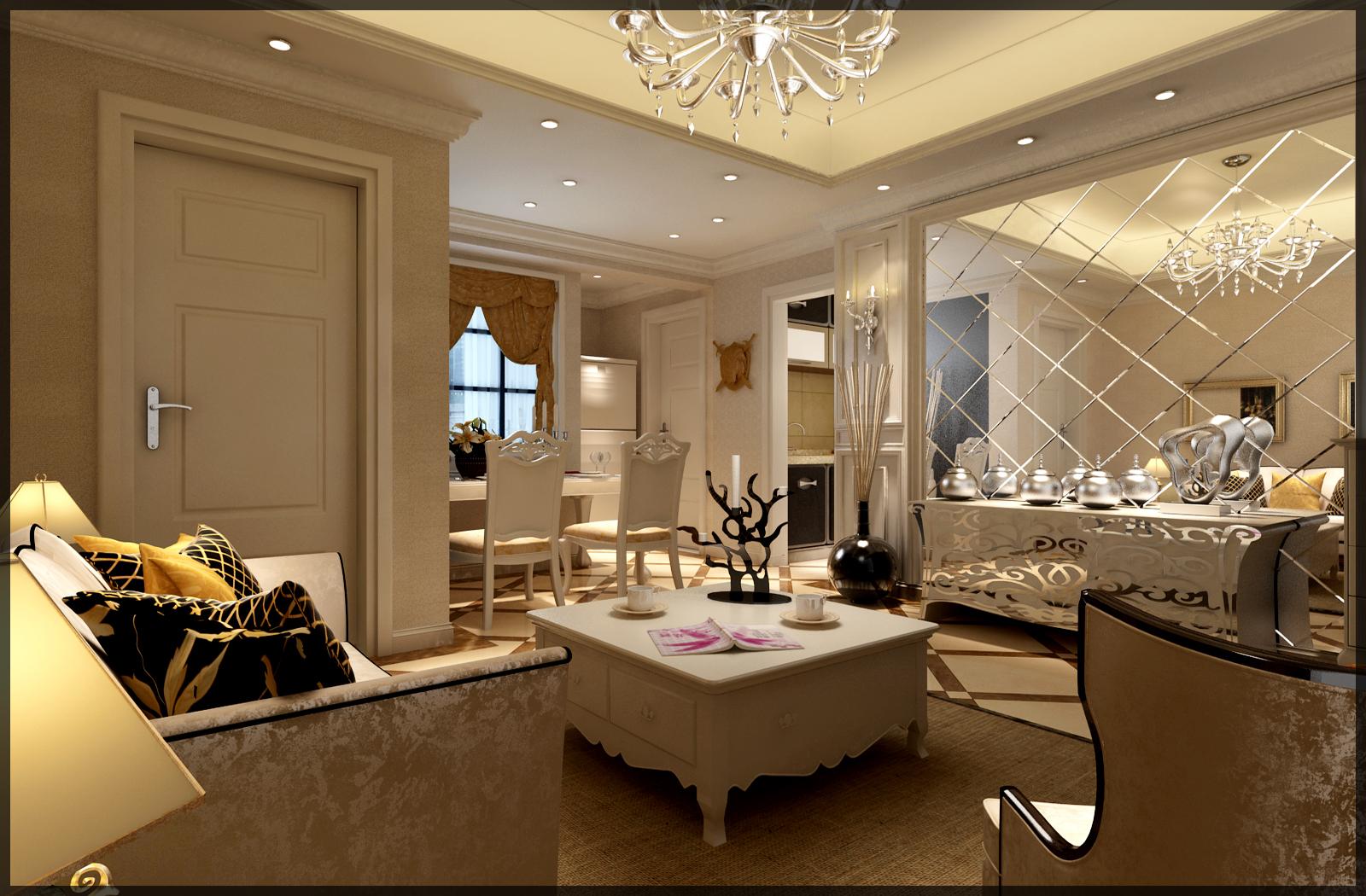 客厅图片来自筑梦百朋装饰在锐力领峰小户型的分享