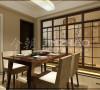 餐厅:家具曲线少,平直表面多,显得更加轻盈优美。