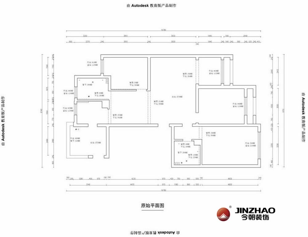 今朝装饰 今朝英瑞 中式风格 装修知识 老房改造 户型图图片来自今朝英瑞在中山华府-130平-新中式风格的分享
