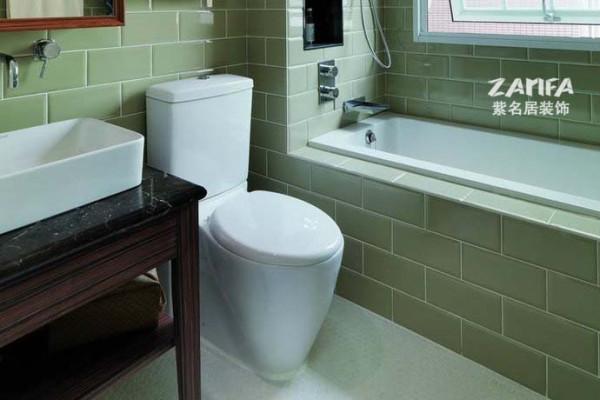 卫生间干湿分区是现代居室的主打,美美地泡上一个澡,耳畔