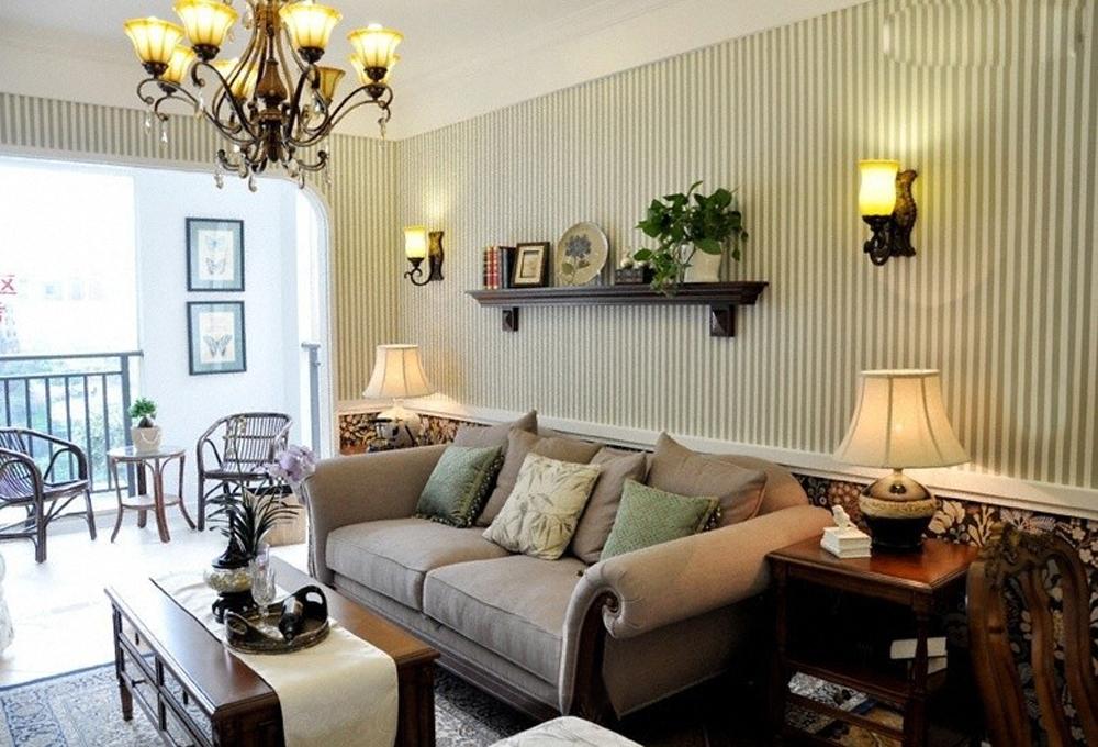 客厅图片来自工长大本营装饰在精品美式婚房-爱的简单的分享