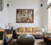 客厅沙发背景细节,素雅清爽的色调主打,居家的味道浓浓的!