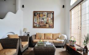 混搭 二居 别墅 白领 80后 小资 小清新 地中海 白富美 客厅图片来自朗润装饰工程有限公司在白富美62平小清新地中海跃层二居的分享