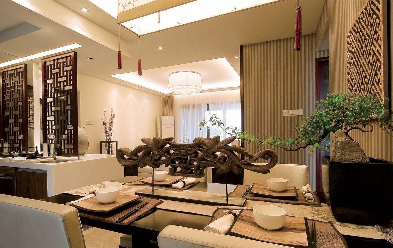中式 底蕴 温文尔雅 温馨 舒适 餐厅图片来自成都生活家装饰在144平书香门第3居室的分享