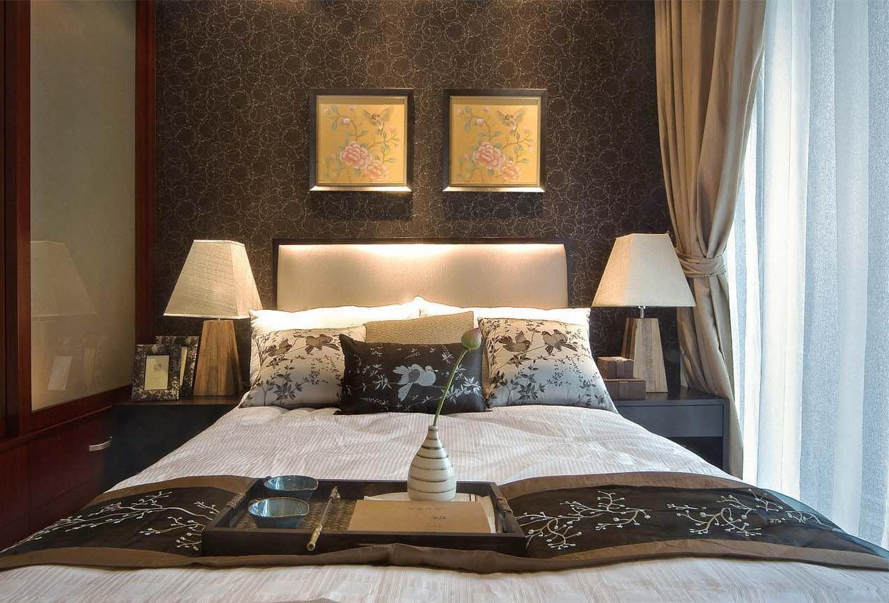 中式 底蕴 温文尔雅 温馨 舒适 卧室图片来自成都生活家装饰在144平书香门第3居室的分享