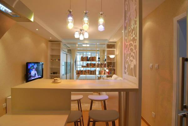 媒体村一居室户型餐厅效果图