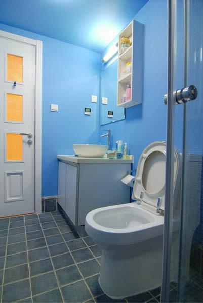 媒体村一居室户型卫生间效果图