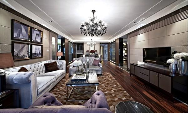 超凡装饰--后现代--紫荆尚都实景样板间