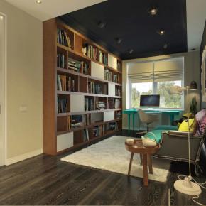 简约 时尚 温馨 舒适 混搭 三居室 书房图片来自成都生活家装饰在121平时尚简约混搭风三居室的分享