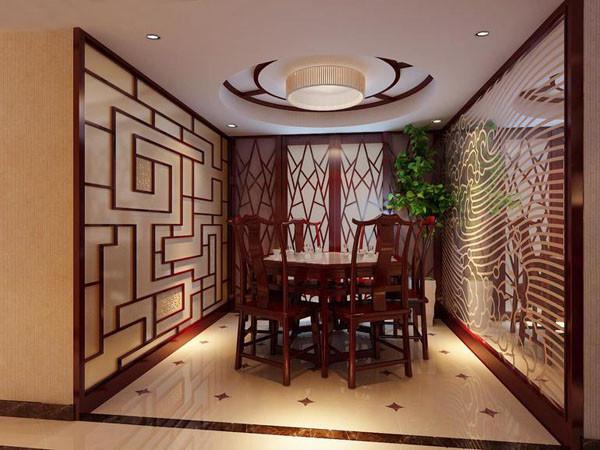 深木色的餐桌餐椅是就餐区的点睛之笔,灵巧个性的牛仔门隔开了餐厅与厨房。