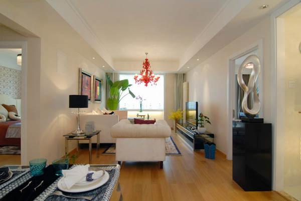 当代MOMA二居室户型客厅实景图