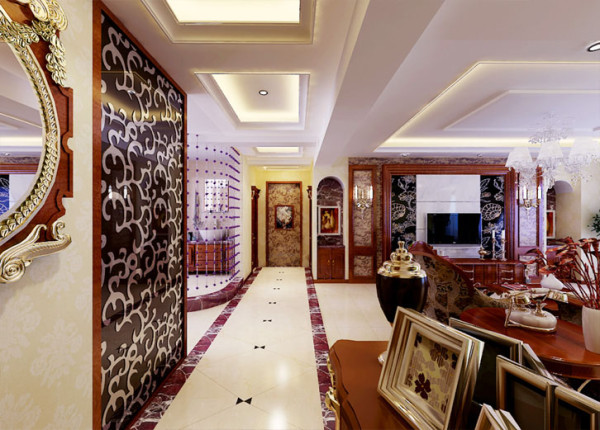 入门处右手边一处较为方正的区域是会客区,这样的空间设计让来访的客人出入非常方便。