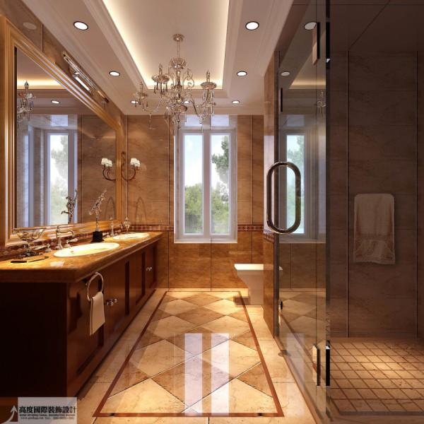 卫生间细节图 成都高度国际别墅装饰设计