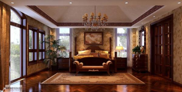 主卧室细节图 成都高度国际别墅装饰设计