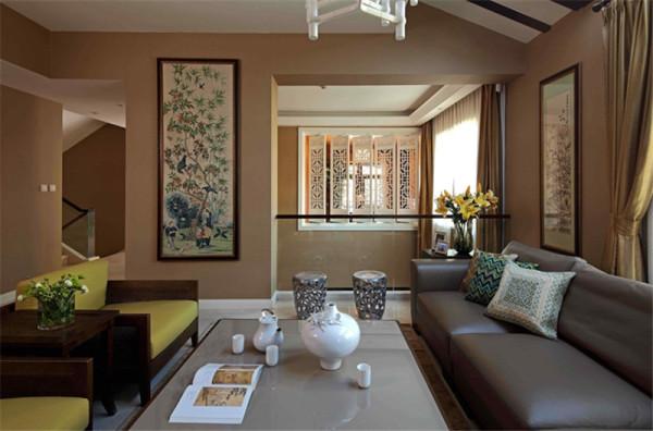现代中式混搭——客厅