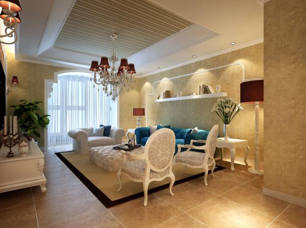 沙发背景墙:用PU线条简单的勾勒出欧式最具有代表性的拱形恰恰与阳台的垭口对称。在这样的简单温馨的空间生活特别的舒畅。
