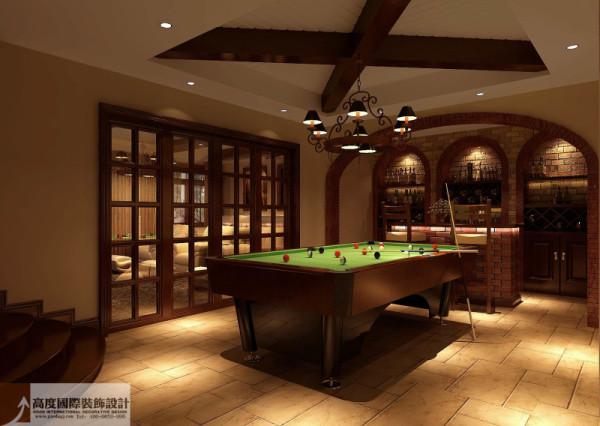 休闲区细节图 成都高度国际别墅装饰设计