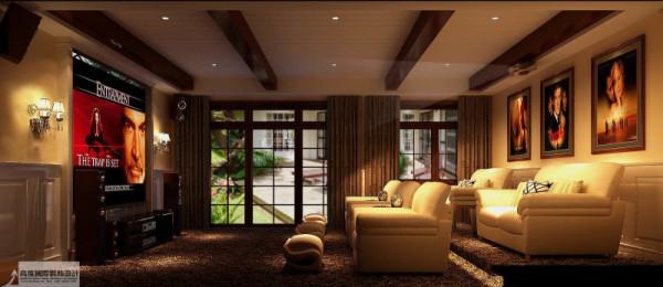 影音室细节图 成都高度国际别墅装饰设计