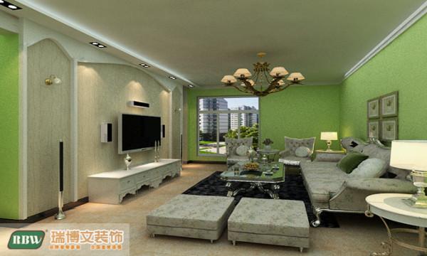 客餐厅吊顶增加空间的层次感,加上灯光的配合,使整个空间温暖不失单调。能更好的突出电视背景墙的重要性。