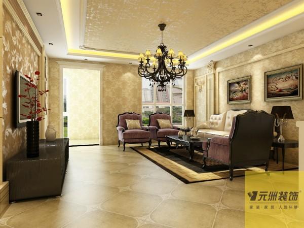客厅:客厅配以简单的电视墙,用马赛克材质突出重点;沙发背景墙以欧式立柱为元素并加以简化,使得空间简单大气,又不单调。