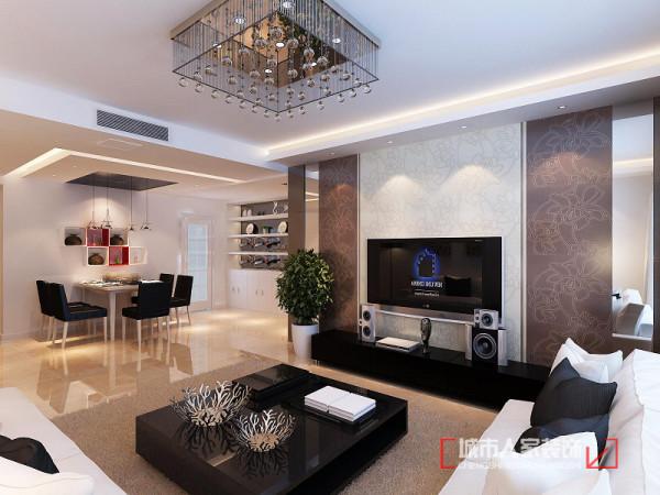 电视墙造型整体主要采用皮纹砖,低调有内涵,就跟夫妻二人给我们的感觉一样,而两列灰镜则可以带给空间延伸感。