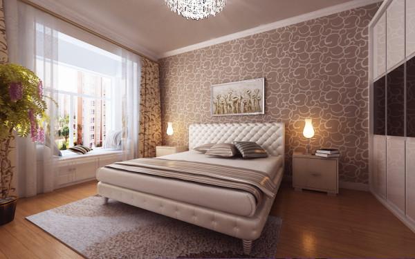9.9万营造简约时尚浪漫新房-卧室装修效果图