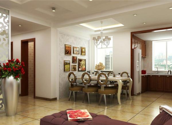 用现代手法诠释家具,使空间散发着现代朝气的空间,一家人围坐餐桌享受美味的同时,看着全家人照片墙,温馨幸福。