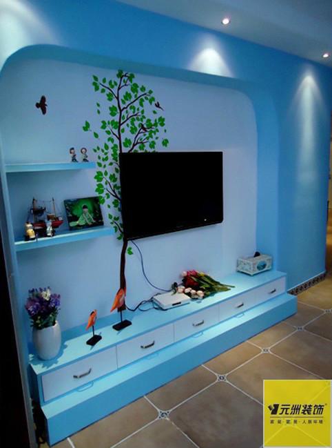 地中海 蓝色色调 客厅图片来自框框在清新地中海设计的分享
