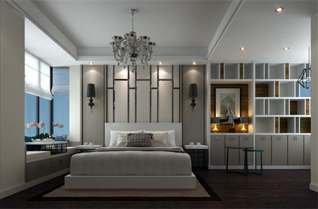 现代简约 三居室 卧室图片来自湖南名匠装饰在楚天雅郡现代风的分享