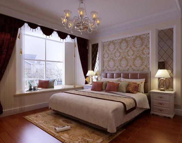 朝阳龙湖长楹天街,大三居,简欧风格装修案例——卧室效果图