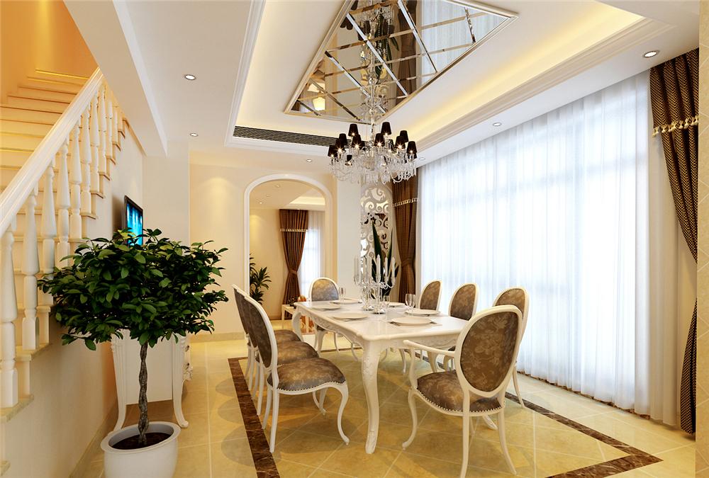 欧式 别墅 收纳 白领 80后 小资 餐厅图片来自实创装饰完美家装在潮白河孔雀城200平简欧风格赏析的分享