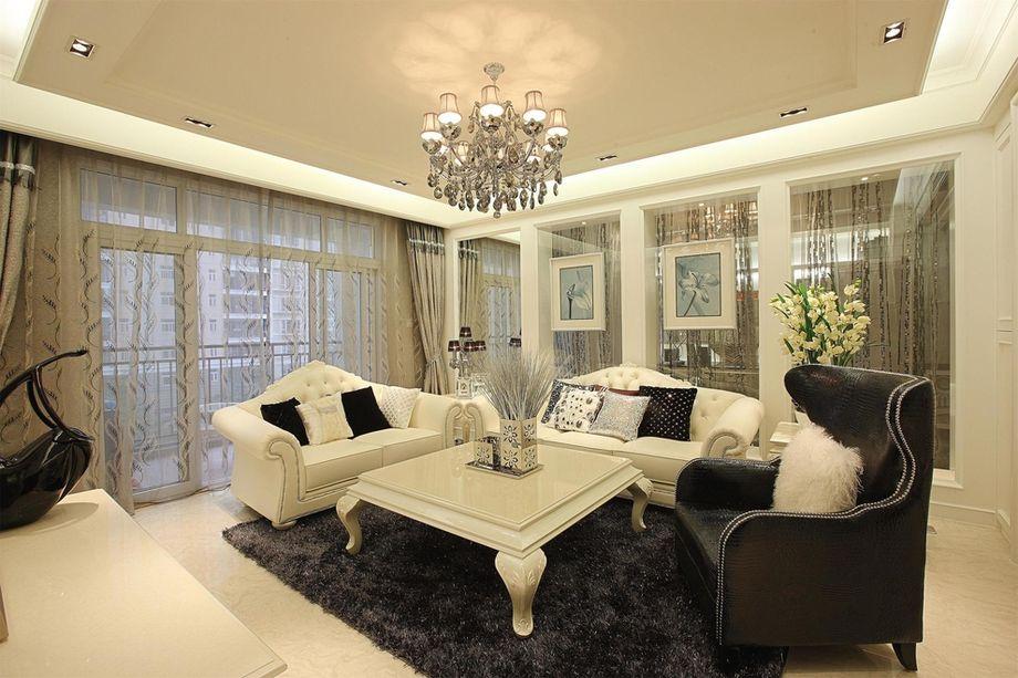 混搭 四居 白领 收纳 旧房改造 80后 小资 客厅图片来自名仕装饰-小飞在新世界恒大华府简欧风格的分享