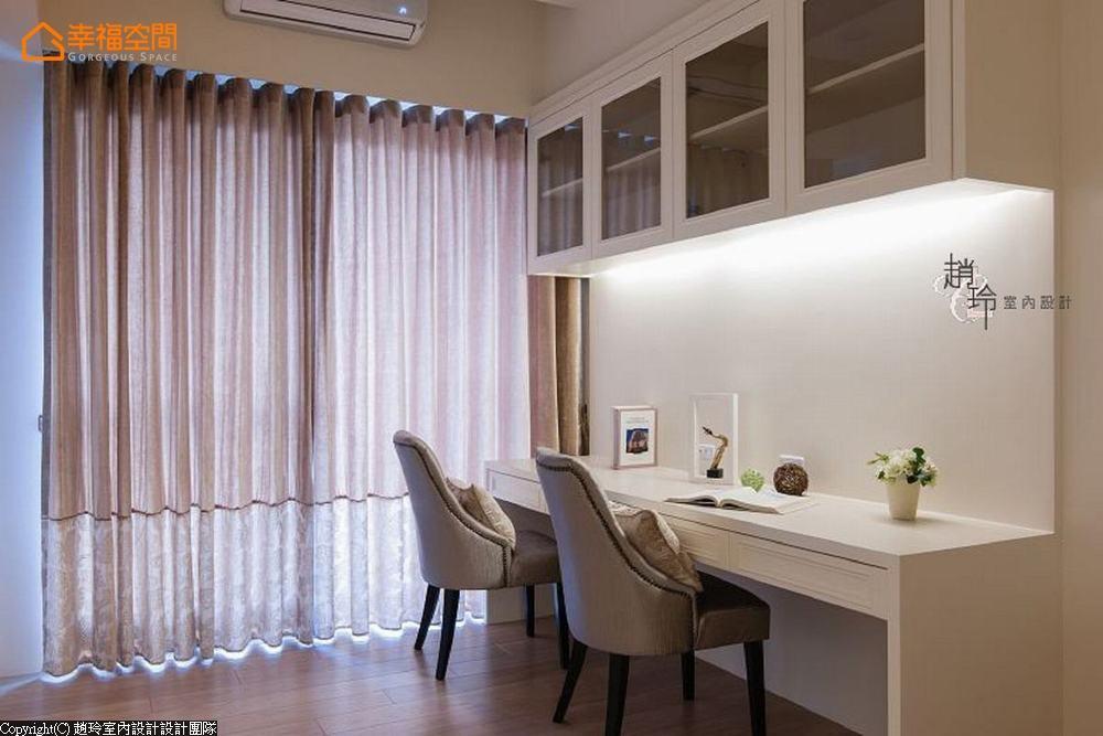 新古典 二居 大坪数 书房图片来自幸福空间在机能至上!248平轻古典迷人雅宅的分享