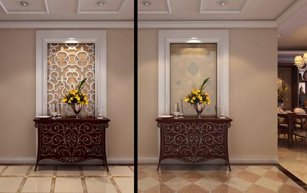 朝阳龙湖长楹天街,大三居,简欧风格装修案例——客厅一角