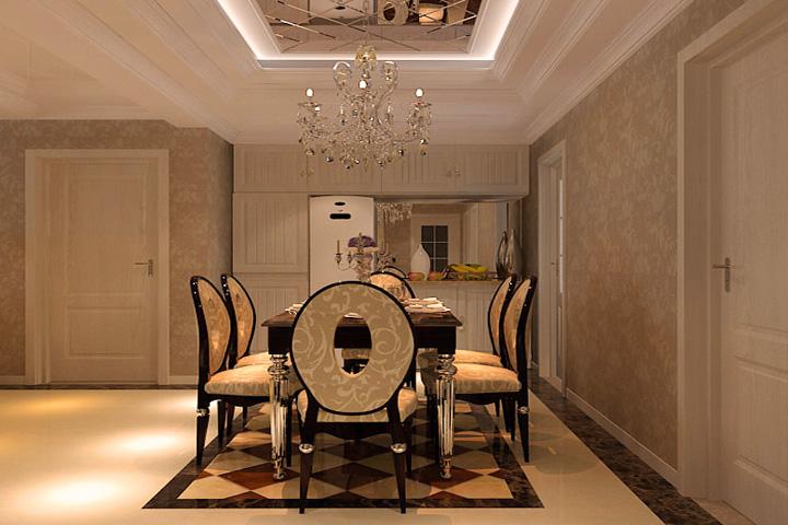 欧式 三居 客厅 卧室 厨房图片来自石家庄业之峰装饰在盛世天骄现代欧式风格装修效果图的分享