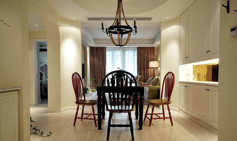 餐厅图片来自家装大管家在清浅色彩温馨 96平美式休闲居的分享