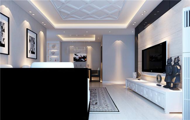 现代简约 时尚 空间感 设计感 三居 客厅图片来自湖南名匠装饰在宜居莱茵城现代简约的分享