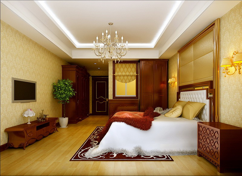 三居 简约 美式 混搭 大气 卧室图片来自孙进进在170平层美式混搭沉稳大气的分享
