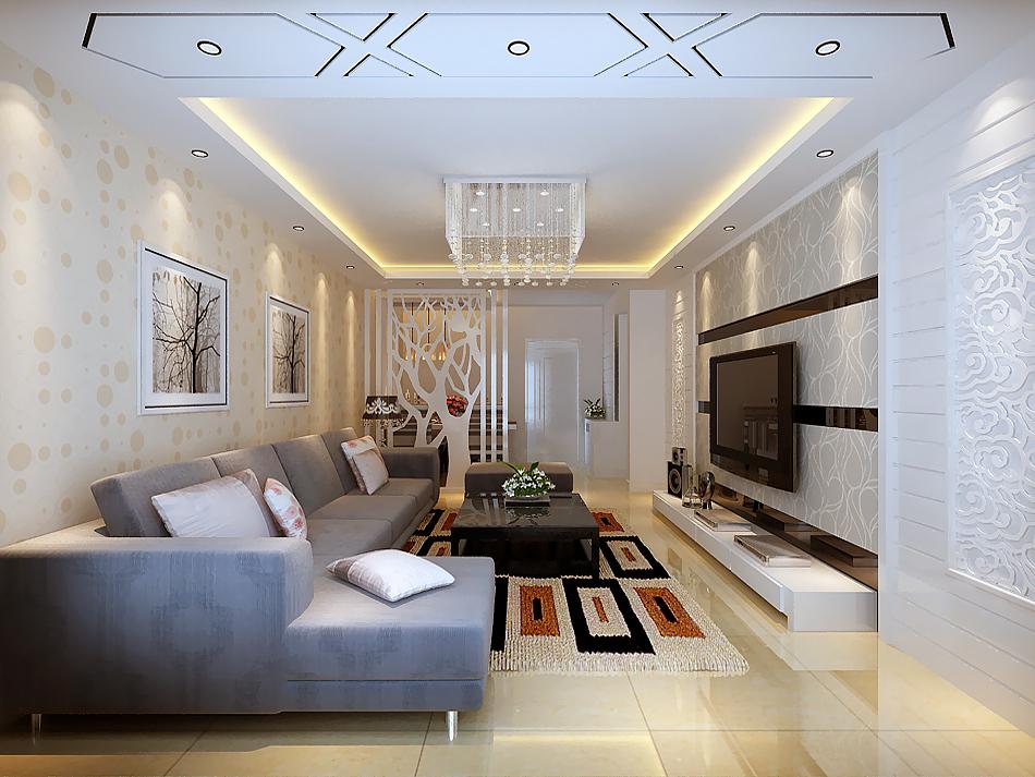 简约 一居 客厅图片来自实创装饰上海公司在49平小户型先现代简约风格的分享